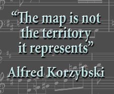 """The map is not the territory it represents. . ."" Alfred Korzybski"