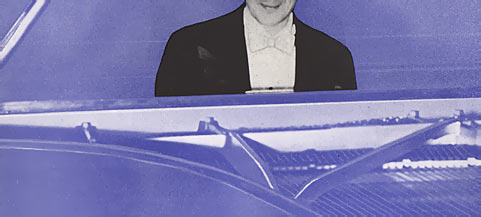 whimsical image of horowitz at piano clipped so his face doesn't show